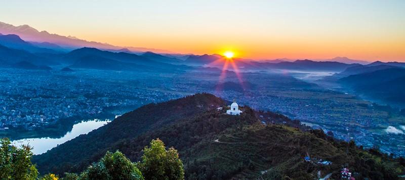 The-halcyon-hues-of-Pokhara's-World-Peace-Pagoda